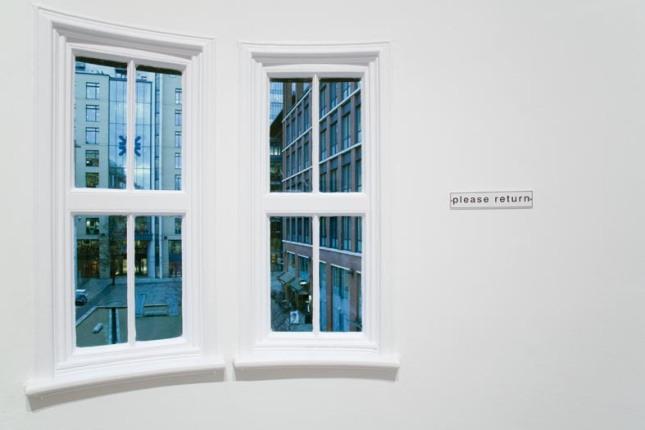 A K Dolven, please return (2014),Installation photograph, Courtesy John Fallon